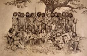 foto de familia en Atapuerca