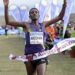 Medhin entrando en meta