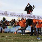 Masai entrando en meta